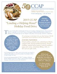 thanksgiving food drive items emergency assistance for disadvantaged families