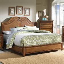 broyhill furniture samana cove queen panel bed with arched woven