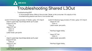 Bgp Route Map by Shared Layer 3 Out Ppt Download