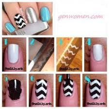 best 25 chevron nail tutorials ideas on pinterest chevron nails