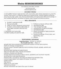 Legal Secretary Job Description For Resume by Secretary Resume Executive Secretary Sample Resume Executive