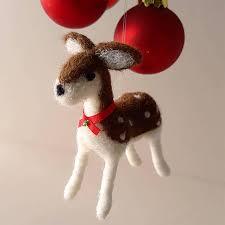 wool deer ornament gift felted deer needle felt deer small