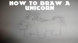 how to draw a simple cartoon unicorn youtube
