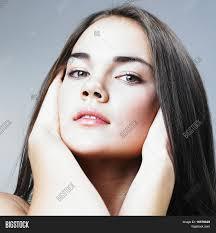 attractive middle aged women dark hair beautiful girl dark hair image photo bigstock