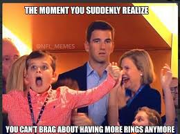 Peyton Manning Face Meme - eli manning looks far from impressed as brother peyton wins super bowl