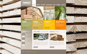website template 47213 timber selling company custom website