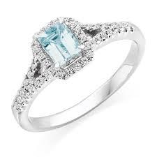 aquamarine diamond ring 18ct white gold diamond and aquamarine ring 0000172