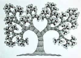 tribal folk tree of iv