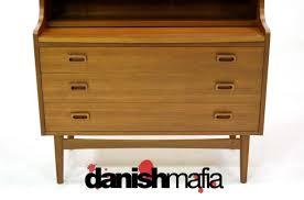 Secretarys Desk by Danish Modern Teak Secretary Desk Credenza Bar Danish Mafia