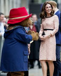 pregnant princess kate dances with paddington bear in surprise