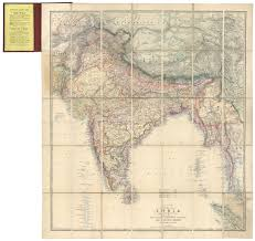 Turkestan Map Stanford U0027s Portable Map Of India Shewing Its Present Divisions And