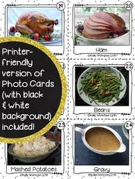 flashcards fall vocabulary and thanksgiving vocabulary tpt