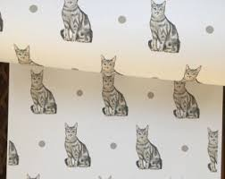 gift wrap wrapping paper cat gift wrap cat