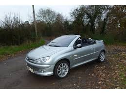 peugeot 206 convertible used peugeot 206 cc convertible 1 6 16v quiksilver 2dr in hook