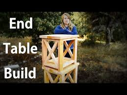 Build Outdoor End Table by Easy End Table Build Start To Finish Youtube