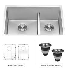 28 inch kitchen sink ruvati 28 inch low divide undermount tight radius 60 40 double bowl