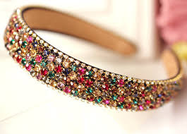 glitter headbands 2015 hot sale luxury colorful rhinestone hairbands glitter
