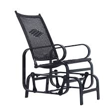 White Wicker Glider Loveseat by Outsunny Outdoor Antique Aluminum Wicker Gliding Chair Black