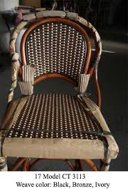 Wooden Bistro Chairs Authentic French Rattan Wood Bistro Chair