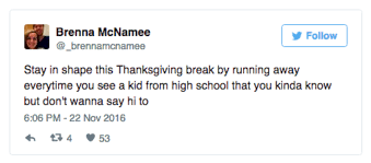the 13 funniest tweets about college students and thanksgiving