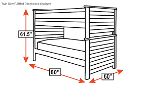 What Are The Dimensions Of A Twin Bed Turkey Creek Black Bunk Bed By Vaughan Bassett