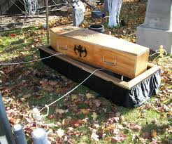 Halloween Decorations Coffin Coffin Casket Lowering Device Stand 5 Steps