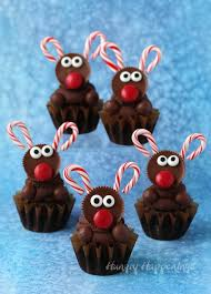 Red White Amp Blue Chocolate Chocolate Reindeer Cupcakes For Christmas