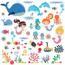 amazon com ocean wonders decorative peel stick wall art mermaids decorative peel stick wall art sticker decals for kids room or nursery