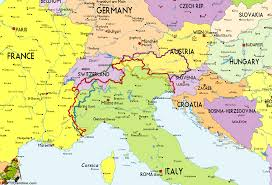 Map Austria Italy And Austria Map Emaps World