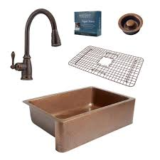 Kitchen Sink Faucet With Pull Out Spray by Antique Copper Kitchen Sink Faucet Single Hole Two Handle Pull Out