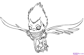 6 how to draw chibi ryuk from death note