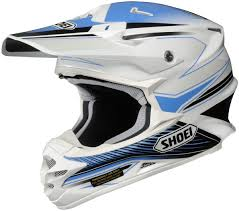 blue motocross helmets shoei vfx w sear off road mx dirt bike helmet dot snell m2015 ebay