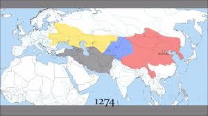 Mongolian Empire Map The Mongol Empire 1206 1400 Youtube