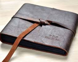 leather bound wedding albums leather scrapbook etsy