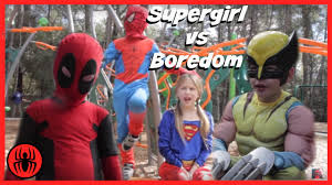 halloween movies for kids youtube little supergirl vs boredom spiderman in real life kid deadpool