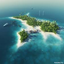 tropical island paradise private island paradise tropical island with wind turbines energy