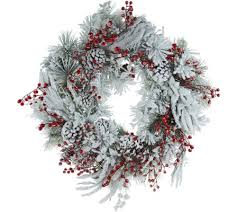 pinecone wreath 28 oversized snowy berry pinecone wreath by valerie page 1