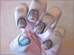 zombie inspired nail designs for halloween