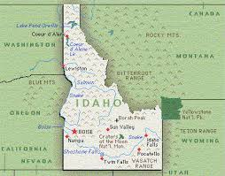 physical map of idaho idaho maps and state information