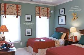 Brothers Bedding Boy Bedroom Decorating White Blue Laminated Wall Shelf White