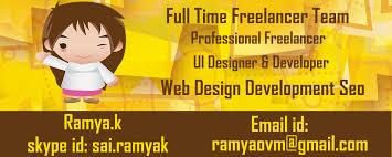 designer freelancer freelance web developer designer team chennai india