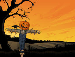halloween background crow halloween scarecrow royalty free cliparts vectors and stock