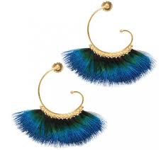 gas earrings gas bijoux feather buzios aqua earrings blue feather earrings