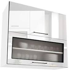 white gloss glass kitchen cabinets if white gloss kitchen unit 2 door display cabinet cupboard