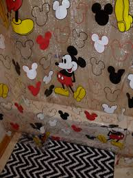 mickey mouse shower curtain walmart black and white zigzag bath