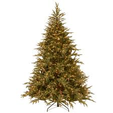 9 ft pre lit dunhill fir hinged artificial christmas tree with