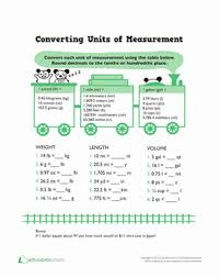 measuring units worksheet converting units of measurement worksheet education
