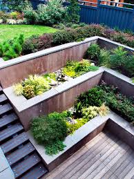 image result for patio garden on top of slope outdoor