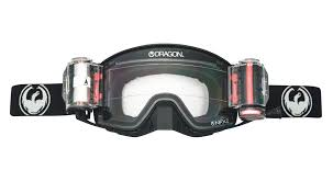 polarized motocross goggles dragon nfx2 coal rapid roll system clear mx goggles