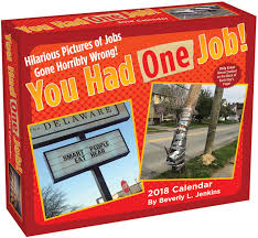 you had one job 2018 day to day calendar beverly l jenkins